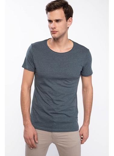 DeFacto Slim Fit Basic T-shirt Yeşil